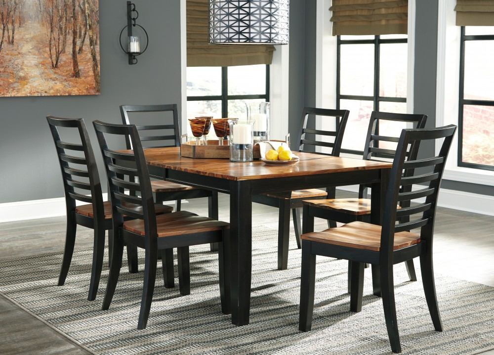 Quinley RECT DRM Butterfly EXT Table & 6 Side Chairs