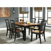 Esmarina RECT DRM Butterfly EXT Table & 6 Side Chairs