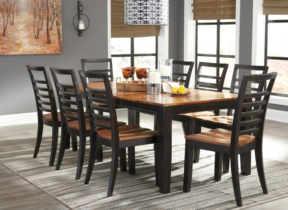 Quinley RECT DRM Butterfly EXT Table & 8 Side Chairs