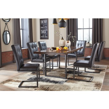 Quinley Rectangular Dining Room Table & 6 UPH Side Chairs