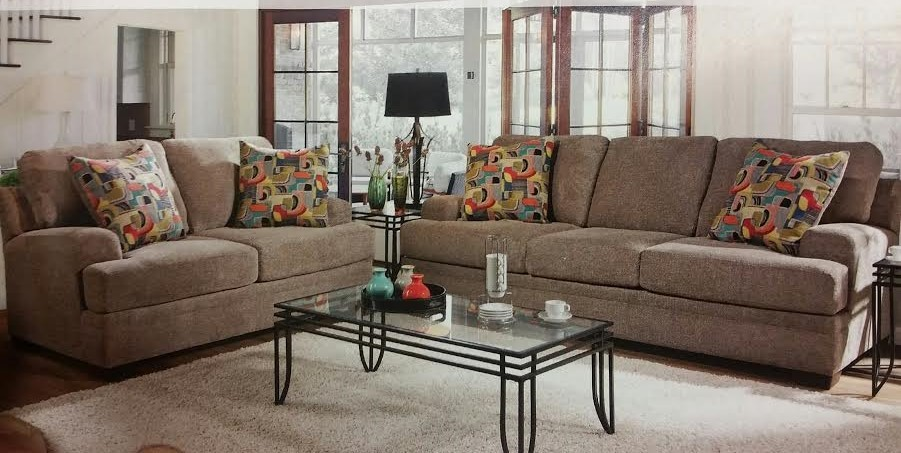 Furby Pewter 2 piece Sofa and Loveseat