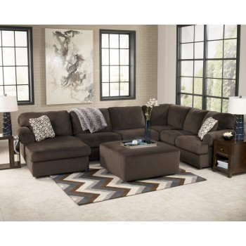 Jessa Place Chocolate 3pc Sectional