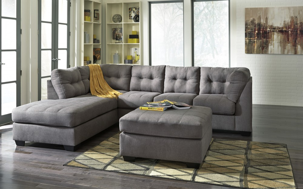 Maier Charcoal Chaise Sectional | 45200-Sectional | Living Room ...