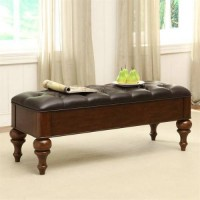 Foster Mid Brown Accent Bench