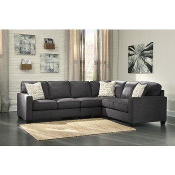 Alenya Charcoal 3 Pc Laf Loveseat Sectional 16601 55