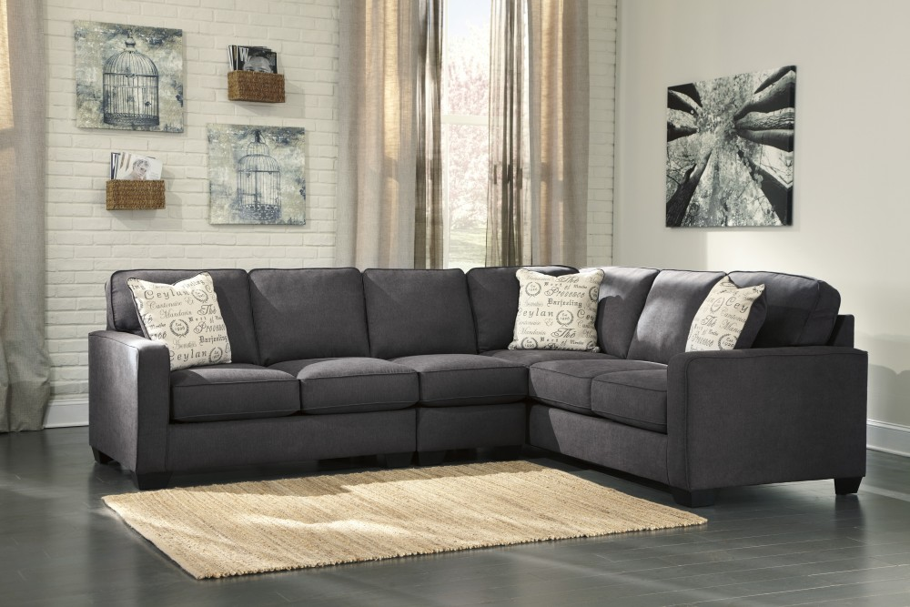 Alenya Charcoal 3 Pc Laf Loveseat Sectional 16601554667