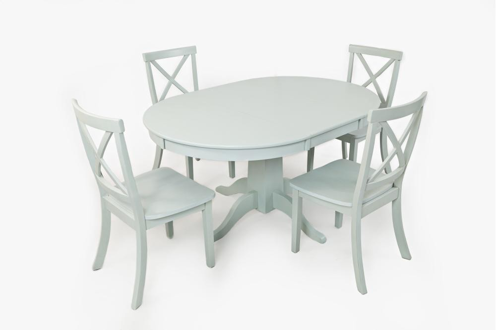 Everyday Classics Round To Oval Dining Table  Dove