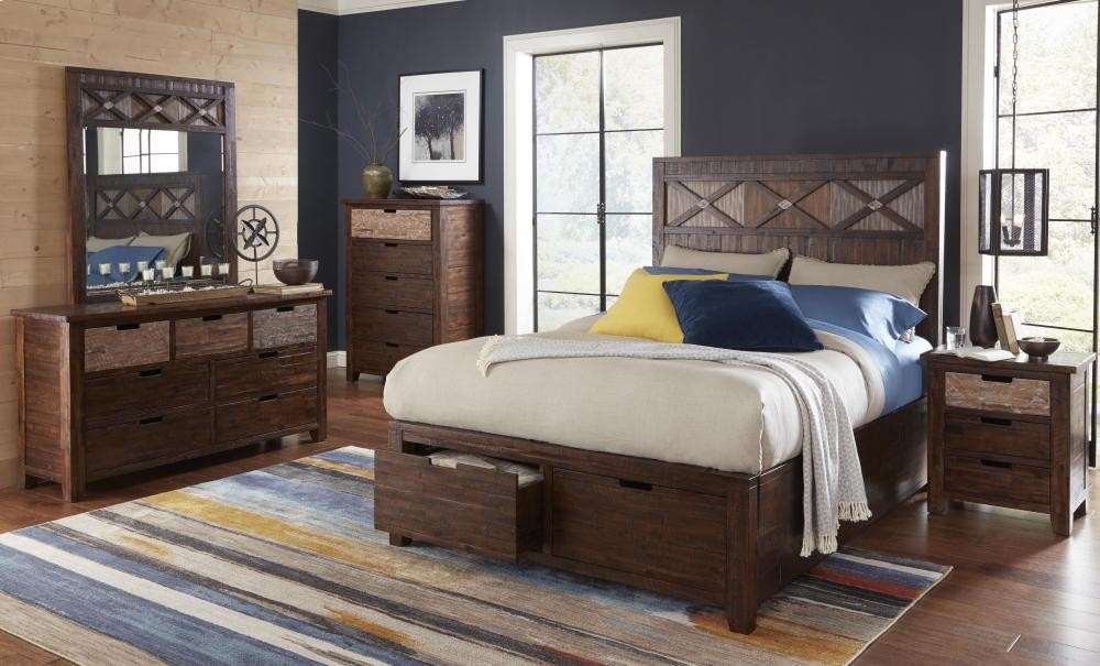 Painted Canyon 5 Piece Queen Bedroom Set: Bed, Dresser, Mirror, Chest,