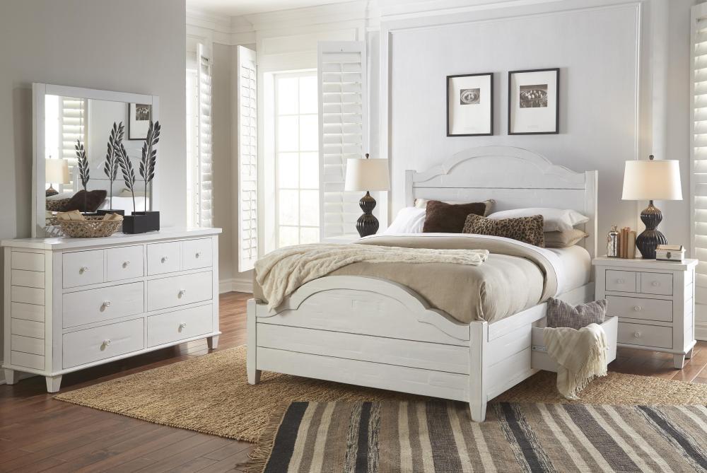 Chesapeake 5 piece queen bedroom set bed dresser mirror for Pruitts bedroom sets