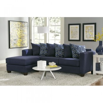 Lively Blue 2 Piece Sectional