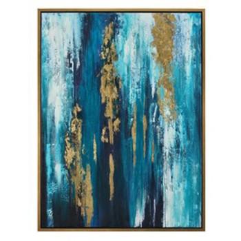 Dinorah - Teal Blue - Wall Art