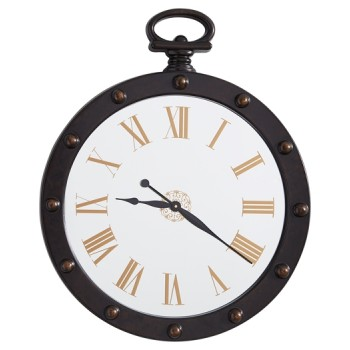 Juan - Brown - Wall Clock