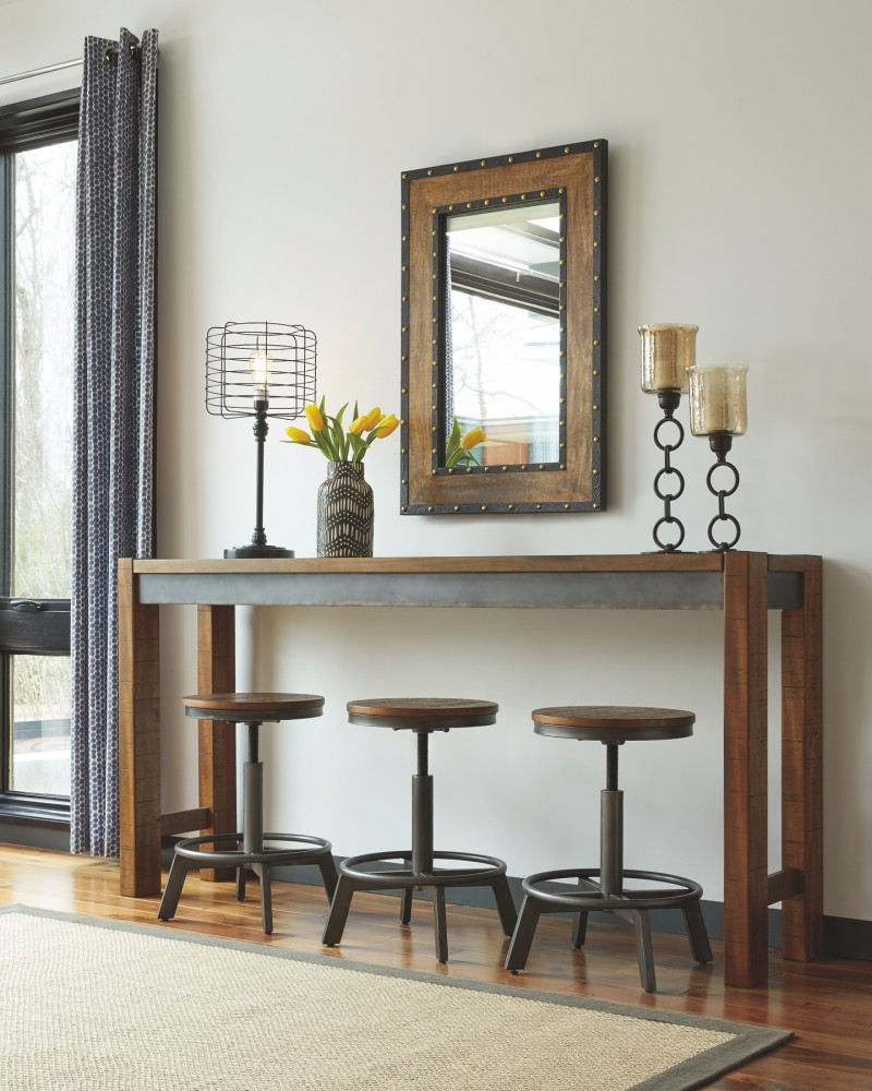 Ashley Furniture Texas Locations: Torjin - Two-tone Brown - Long Counter Table