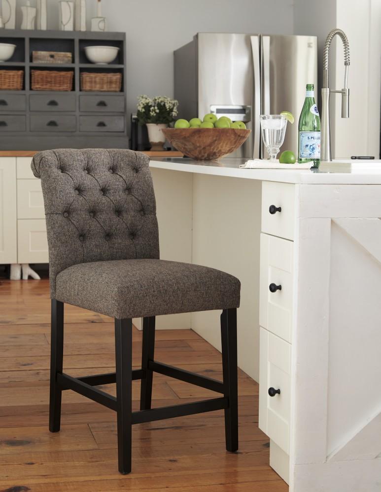 upholstered bar stools. Tripton - Medium Brown Upholstered Barstool (2/CN) Bar Stools U