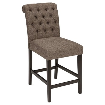 Tripton - Medium Brown - Upholstered Barstool (2/CN)