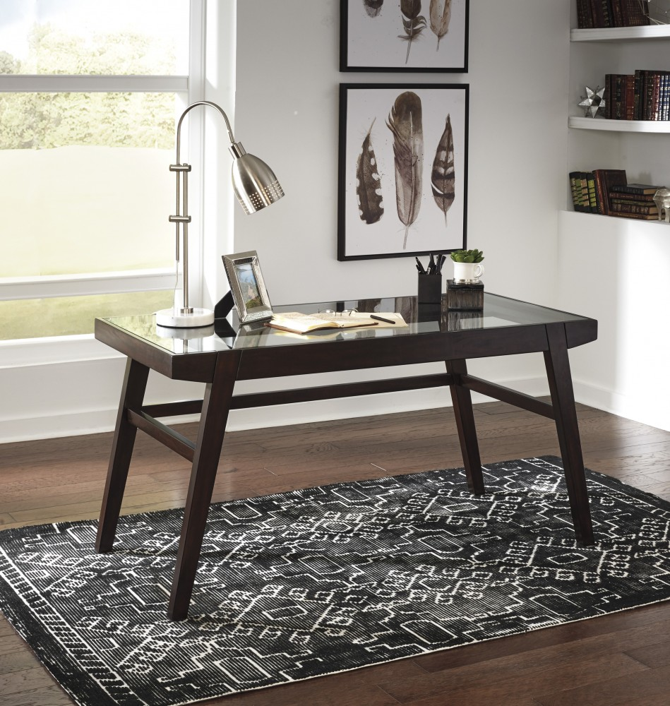Wonderful Chanceen   Dark Brown   Home Office Desk
