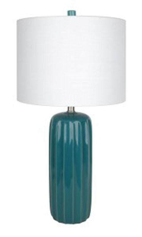 Adorlee - Teal - Ceramic Table Lamp (2/CN)