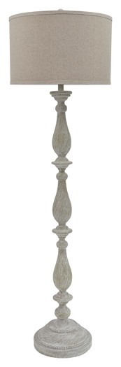 Bernadate - Whitewash - Poly Floor Lamp (1/CN)