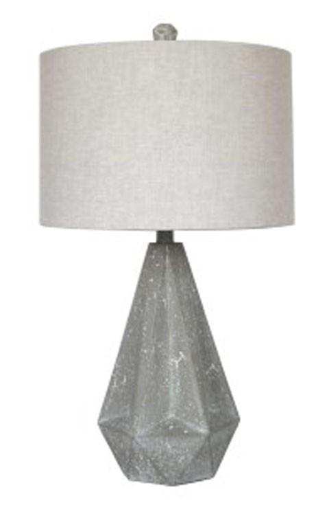 Ibby - Gray - Poly Table Lamp (2/CN)