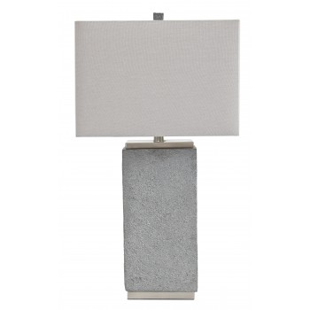 Amergin - Gray - Poly Table Lamp (2/CN)