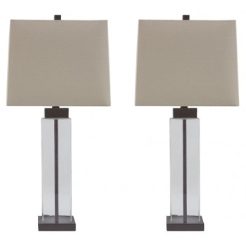 Alvaro - Clear/Bronze Finish - Glass Table Lamp (2/CN)