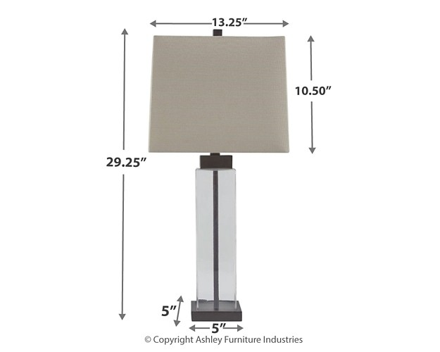 Alvaro Clear Bronze Finish Glass Table Lamp 2 Cn L431374