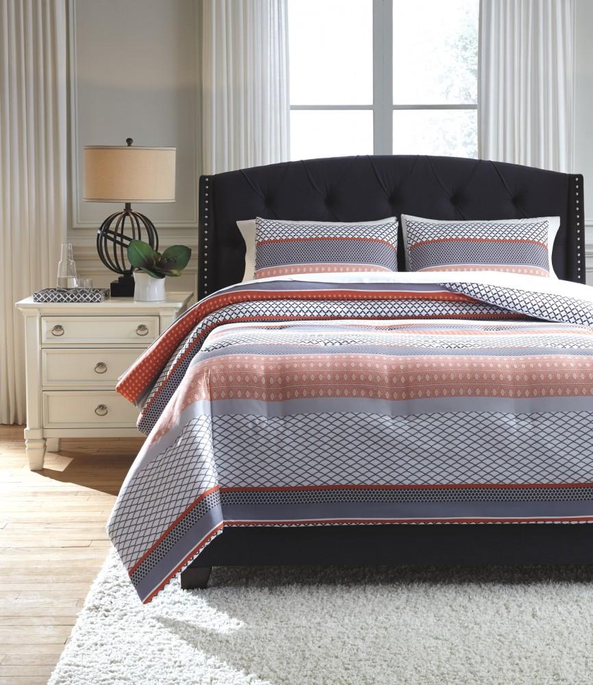Anjanette multi queen comforter set bedding for Pruitts bedroom sets