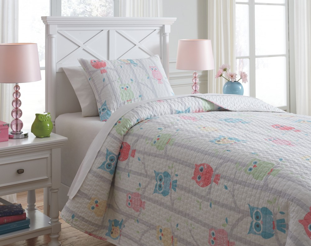Lucille - Multi - Twin Coverlet Set