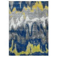 Alanson - Blue/Gray/Yellow - Large Rug
