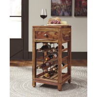 Abbonto - Warm Brown - Wine Cabinet