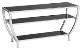 Blasney - Black/Chrome Finish - TV Stand