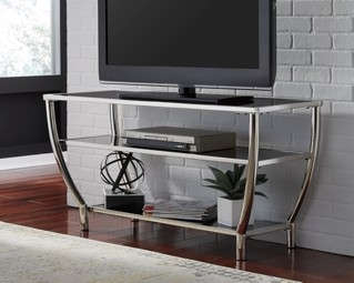 Blasney Black Chrome Finish Tv Stand W047 10 Tv Stand
