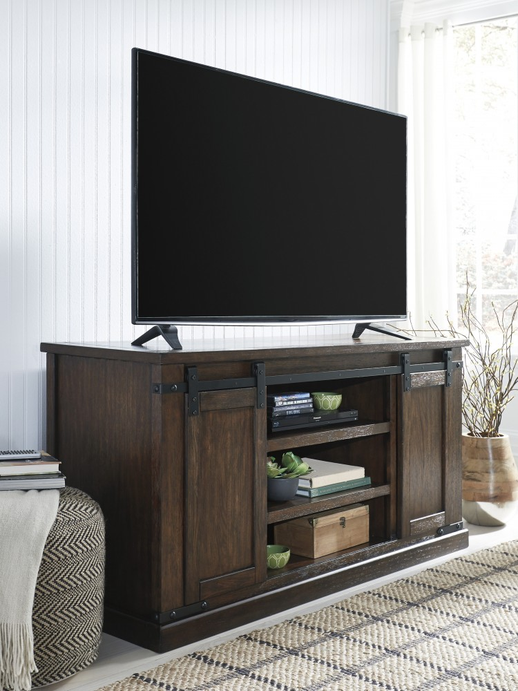 Budmore - Rustic Brown - Large TV Stand