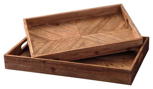 Dewitt - Brown - Tray Set (2/CN)