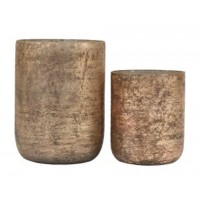 Christelle - Antique Gray - Candle Holder Set (2/CN)