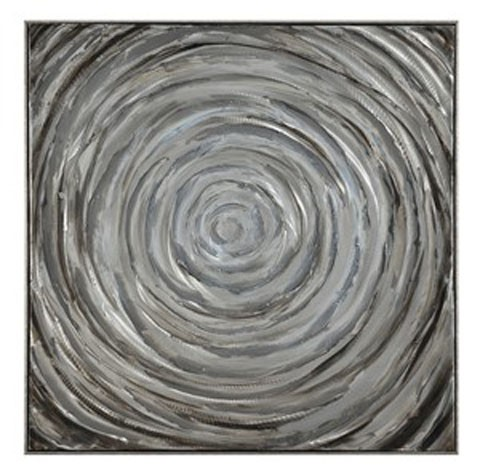 Adda silver gray wall art