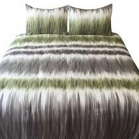 Agustus - Gray/Green - King Comforter Set