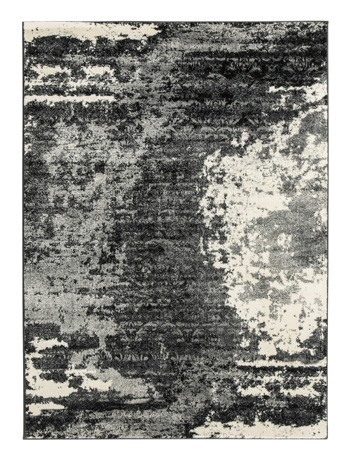 Roskos - Black/Gray - Large Rug