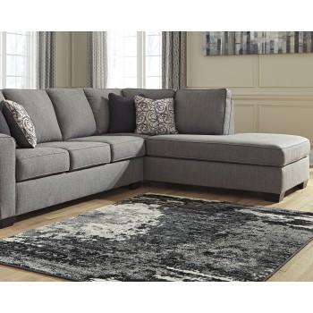 Roskos - Black/Gray - Large Rug