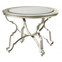 Shollyn - Silver - Round Dining Room Table
