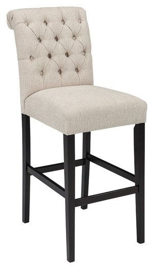 tripton dining uph side chair set of 2 d530 01 tripton medium brown uph barstool 2 cn d530 362