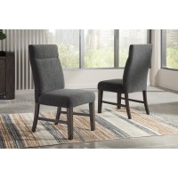 Chansey - Dark Gray - Dining UPH Side Chair (2/CN)