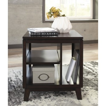 Chanceen - Dark Brown - Rectangular End Table