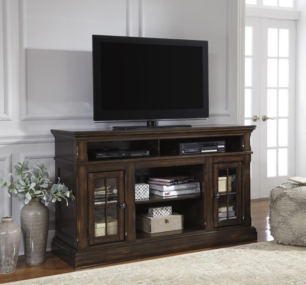 Roddinton - Dark Brown - LG TV Stand w/FRPL/Audio OPT