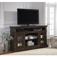 Roddinton - Dark Brown - LG TV Stand w/FRPL/Audio OPT