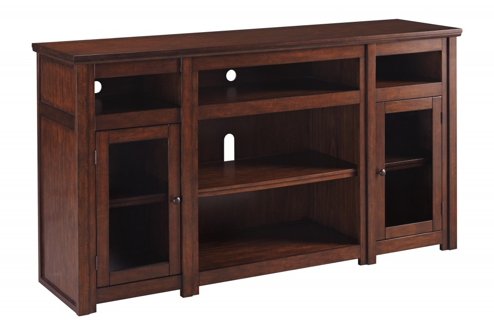 "Rich Caramel Finish Classic Bedroom Set W Options: Harpan 72"" TV Stand"