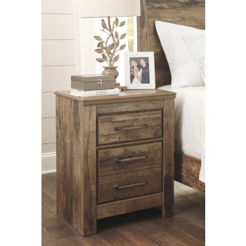 Blaneville - Brown - Two Drawer Night Stand