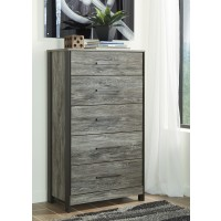 Cazenfeld - Black/Gray - Five Drawer Chest