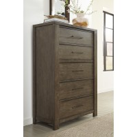 Camilone - Dark Gray - Five Drawer Chest