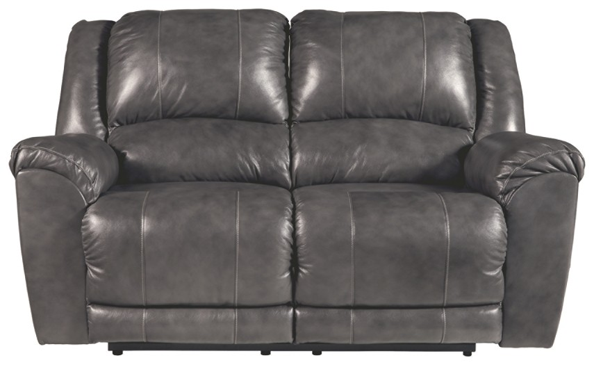 Persiphone - Charcoal - Reclining Power Loveseat